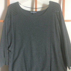 Really nice charcoal 3/4 sleeve sweater